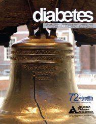 A JournAl of the AmericAn DiAbetes AssociAtion