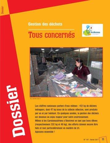 février 2011 - Gestion des déchets : tous concernés (pdf - 678,46 ko