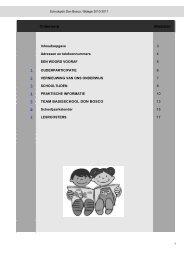 INHOUDSOPGAVE SCHOOLJAAR 2006-2007