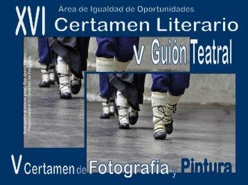 XVI Certamen Literario V Guión Teatral V Certamen Fotografía y ...