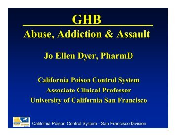 GHB - California Association of Toxicologists