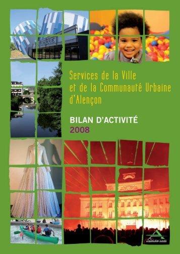 Télécharger la version complète du rapport d'activité 2008 a - Alençon