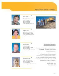 Equipment Sales Contacts - Toromont CAT
