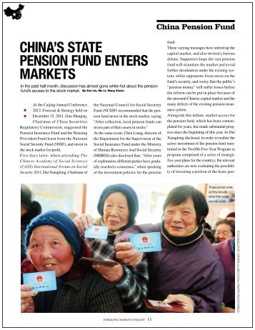 CHINA'S STATE PENSION FUND ENTErS mArkETS - Mirae Asset ...