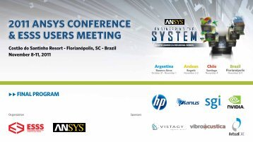 2011 ANSYS CONFERENCE & ESSS USERS MEETING