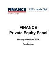 FINANCE Private Equity Panel - Finance Magazin