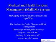 Medical and Health Incident Management (MaHIM) System