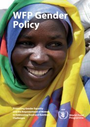 WFP Gender Policy - WFP Remote Access Secure Services