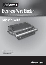 Quasar Wire Manual - Fellowes