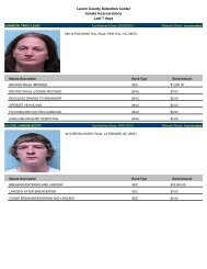 Updated April 5: Mugshots of people arrested in Lenoir County