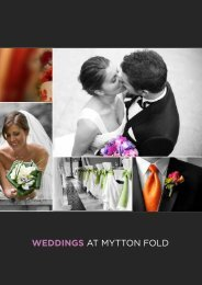 WEDDINGS at mytton fold