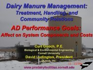 AD Performance Goals - Manure Management - Cornell University