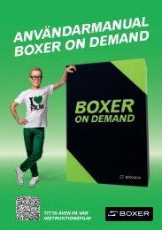 användarManual boxer on deMand