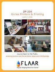 DP-204 Giclee Printers & Printing - Digital Photography