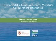Port of Portland's International Institute for Seaport Sustainability