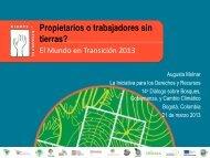 Presentación de apertura: Propietarios o trabajadores sin tierras