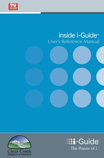 User's Reference Manual - Clear Creek Communications