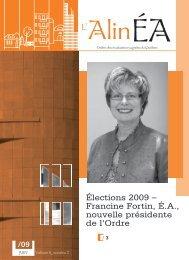 juin 2009 - Ordre des évaluateurs agréés du Québec