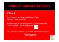 Kurs - Pamięć i mnemotechniki cz. 2