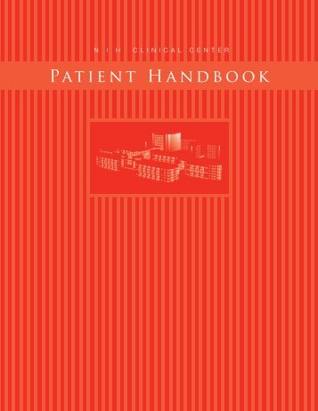 Patient Handbook - NIH Clinical Center - National Institutes of Health