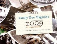 Family Tree Magazine 2009 Media Planner