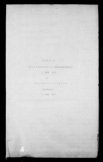I«î'. l-.Vi,'.-- IVI.:.;- 3 VUL ! nlaiin 8 in « n kokouspöy tKklrJa V. 1906 ...