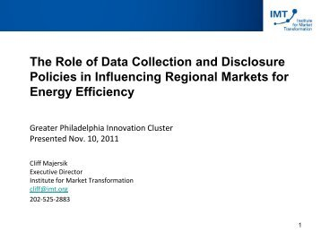 Data Collection and Disclosure Policies Presentation - EEB Hub