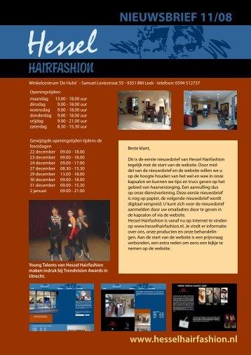 Nieuwsbrief november 2008 - Hessel Hairfashion