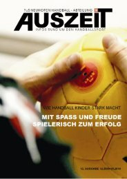 Ausgabe Dezember 2009 - Handball TuS Neuhofen