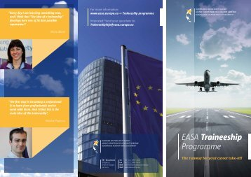 EASA Traineeship Programme - European Aviation Safety Agency