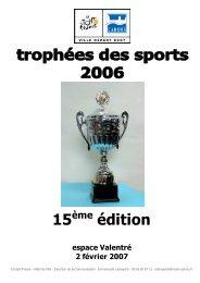 dp trophées des sports 2006 avec résultats - Cahors