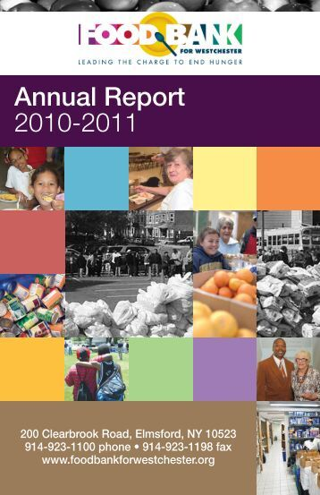 Food Bank Annual Report 2010-11 - Food Bank for Westchester