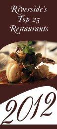 Top 25 Restaurants in Riverside - City of Riverside