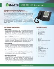 ZIP 57i | IP Telephones - Zultys, Inc.