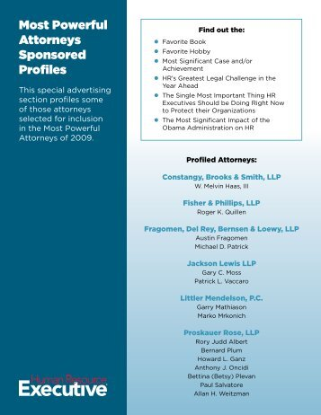 Most Powerful Attorneys Sponsored Profiles - Human Resource ...