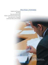 Otras Áreas y Actividades - Banco Provincial