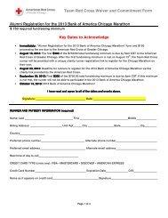 Alumni Registration for the 2013 Bank of America Chicago Marathon