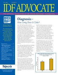 Number 59 – Fall 2008 - Immune Deficiency Foundation