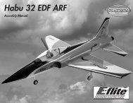 Habu 32 EDF ARF Assembly Manual - Great Hobbies