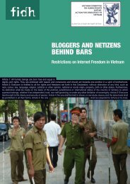 Bloggers and Netizens Behind Bars: Restrictions on Internet ... - FIDH