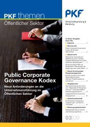 Heft 3 09/2009 Public Corporate Governance Kodex: Neue ... - PKF