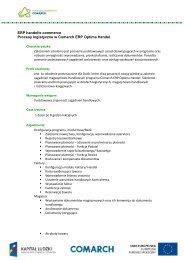 Procesy logistyczne w Comarch ERP Optima Handel