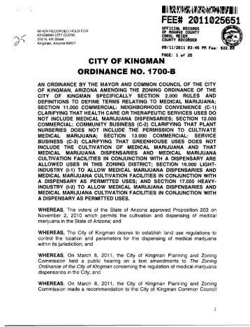 ClTY OF KINGMAN - City of Kingman