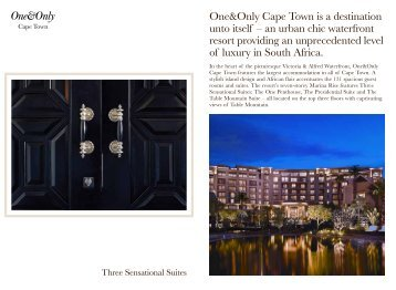 One&Only Cape Town is a destination unto itself – an urban chic ...