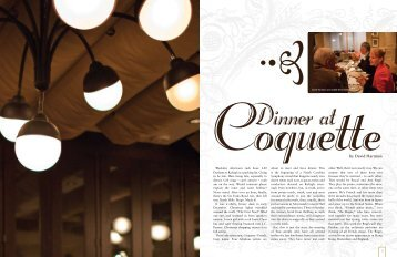 Dinner at Coquette by David Hartman - North Carolina Symphony