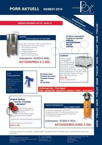 PORR AKTUELL HERBST-2013 - Artur Porr Fachgroßhandel für ...