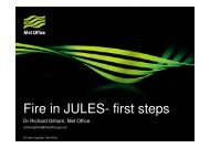 Fire in JULES- first steps