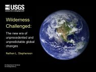 The new era of unprecedented and unpredictable ... - Wilderness.net
