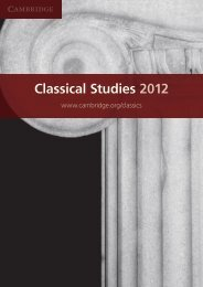 Classical Studies 2012 - Cambridge University Press