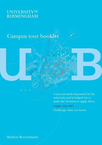 Campus tour booklet (PDF - 909KB) - University of Birmingham